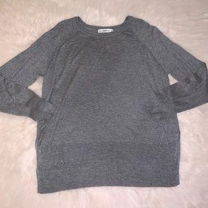 Zara Knit Super Soft Gray Long Sleeve Sweater